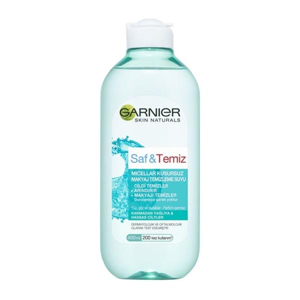 محلول پاک کننده آرایش صورت گارنیه مدل Saf & Temiz