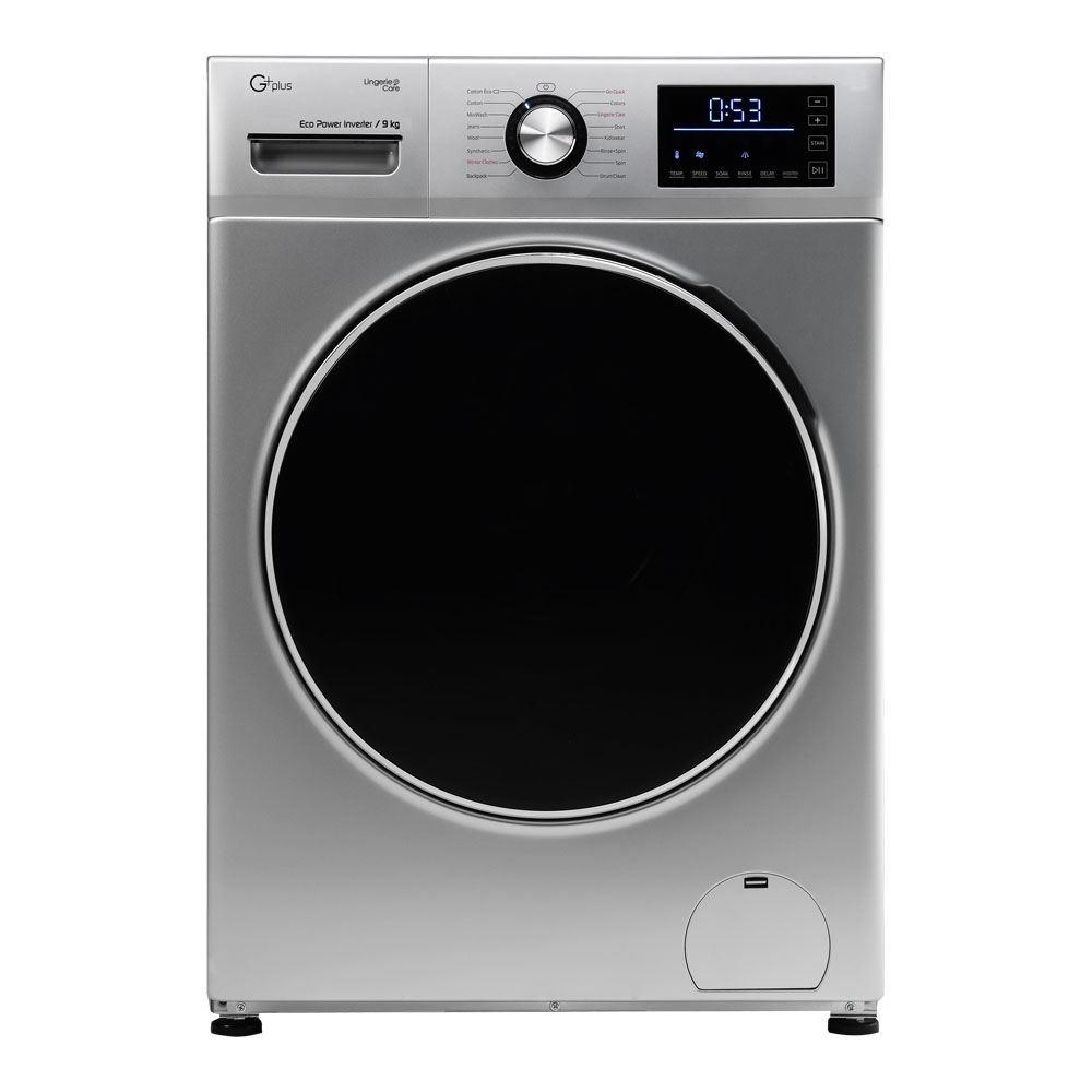 ماشین لباسشویی 9 کیلویی جی پلاس مدل GWM-K945S استیل