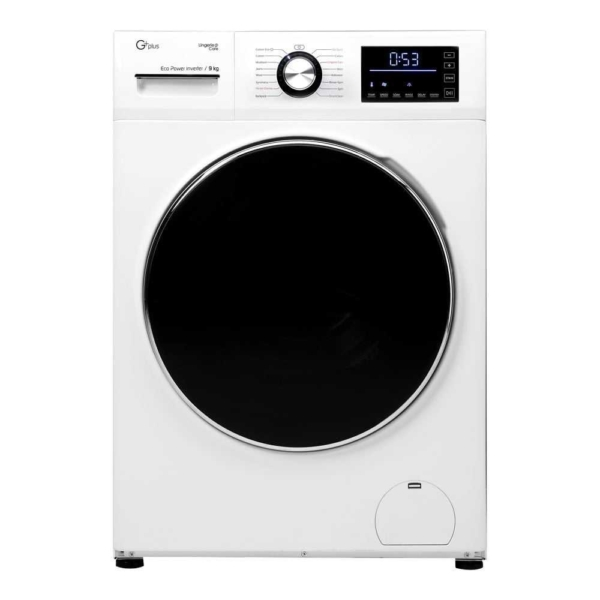ماشین لباسشویی 9 کیلویی جی پلاس مدل GWM-K945W سفید