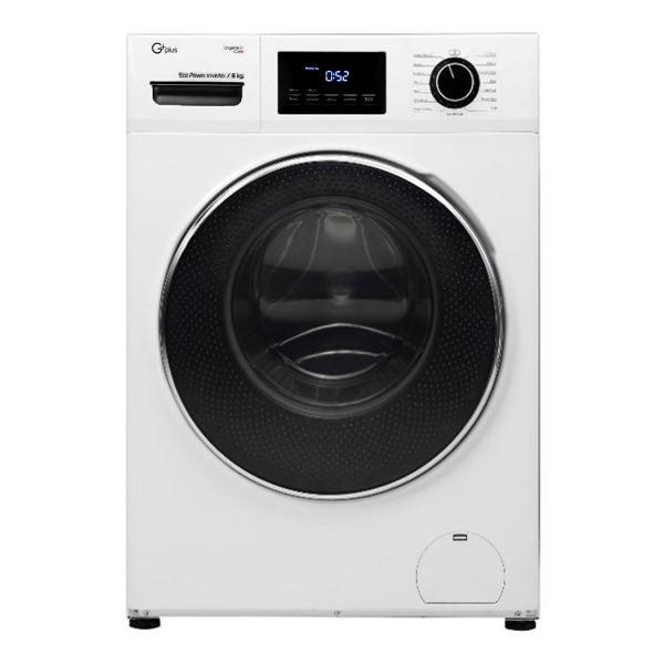 ماشین لباسشویی 8 کیلویی جی پلاس مدل GWM-K824W سفید
